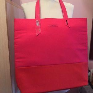 Lancome pink/red tote bag